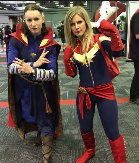 captain marvel cosplay by fans