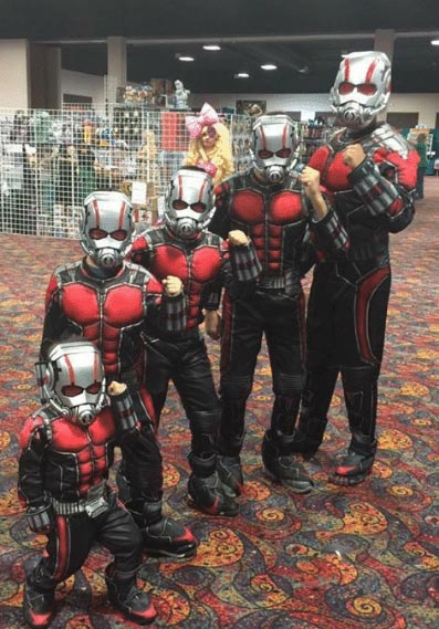 funny ant-man cosplay show 2