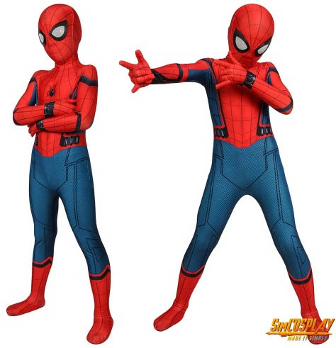 Kids Spider-man Homecoming Cosplay Suit Spandex Costume