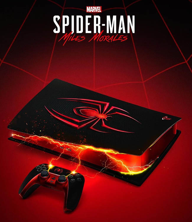 spider-man miles morales ps5 fansart edition